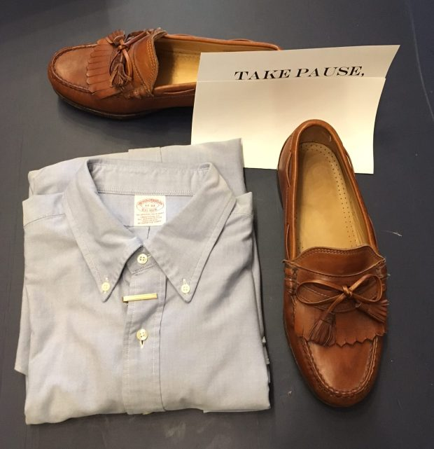 Alled Edmonds Tassle Loafers; Brooks Brothers Oxford