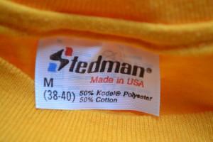 Tag on a 50-50 vintage Stedman t-shirt.