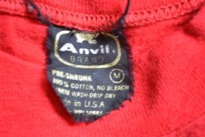 Vintage Anvil T-Shirt Tag