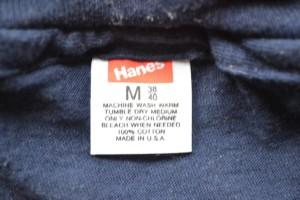 1980s Hanes Undershirt Tag