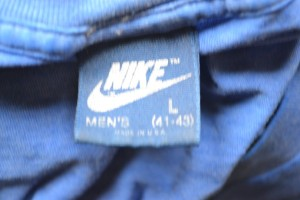 Nike Blue tag from the 1980s.
