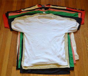 Size variation among vintage t-shirts