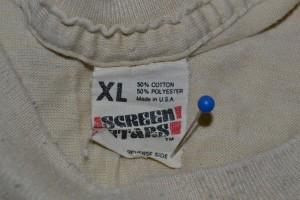 Slightly worn screen stars tag