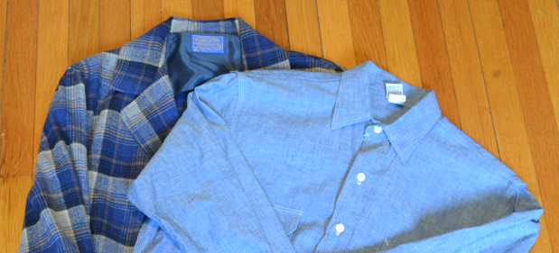 Vintage Pendleton Blazer and a US-made Chambray Workshirt