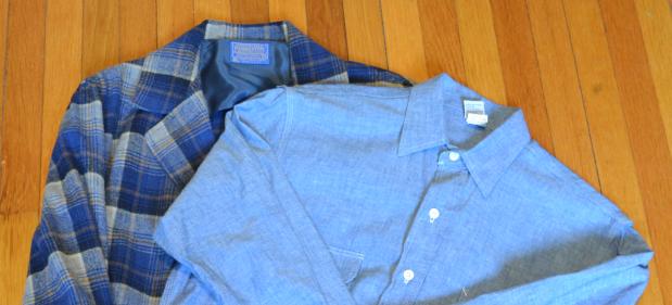 Vintage Pendleton Blazer and a US-made Chambray Workshirt