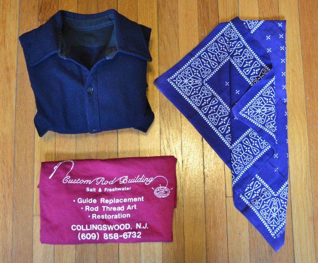Vintage Wool Flannel, Selvage Bandana