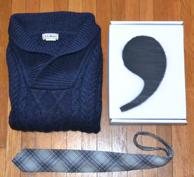 LL Bean Irish Shawl Collar Sweater