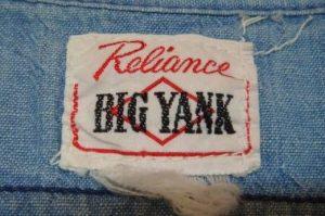 50s Big Yank Label