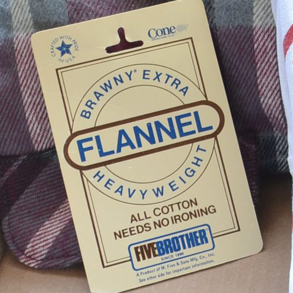 Vintage Flannel Shirt Tag
