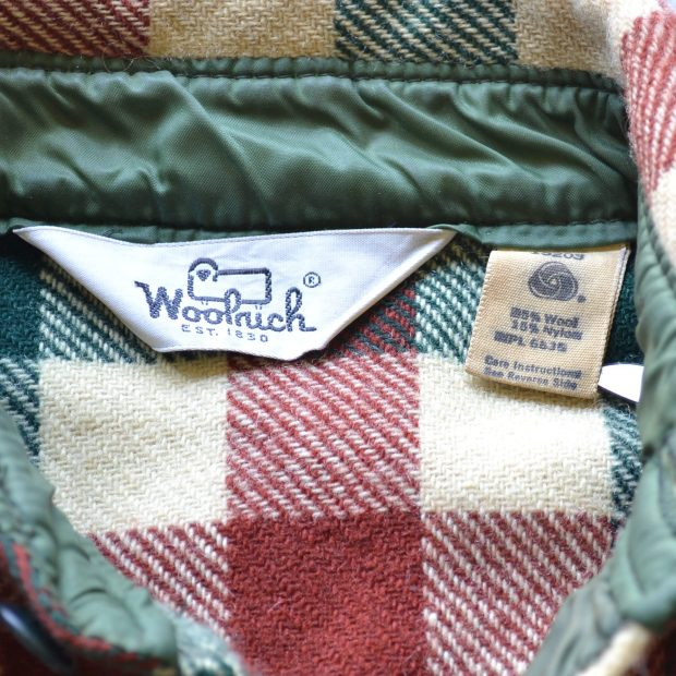 Vintage wool flannel via Comma Vintage