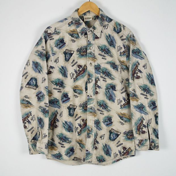 Vintage Printed Flannel via eBay seller digginohio.