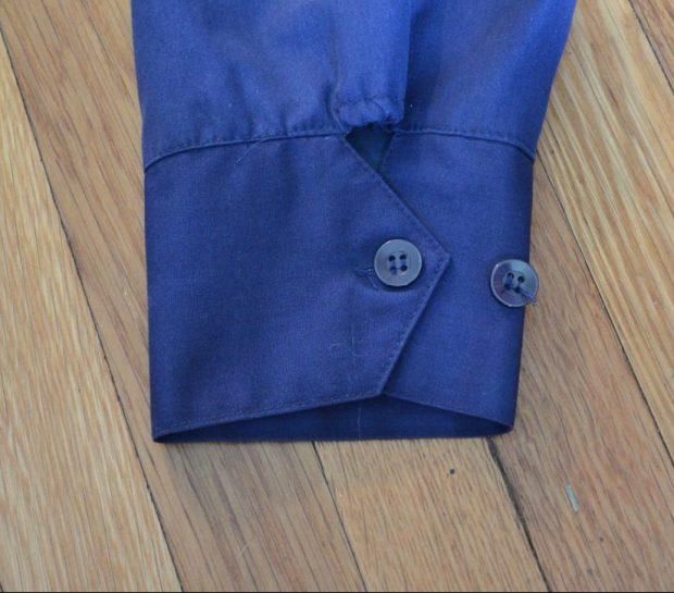 Button-cuff on Vintage Harrington Jacket