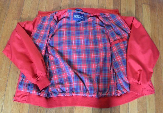 Tartan liner on vintage harrington jacket
