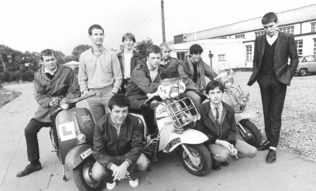 Mod youth culture wearing Baracuta-style jackets.