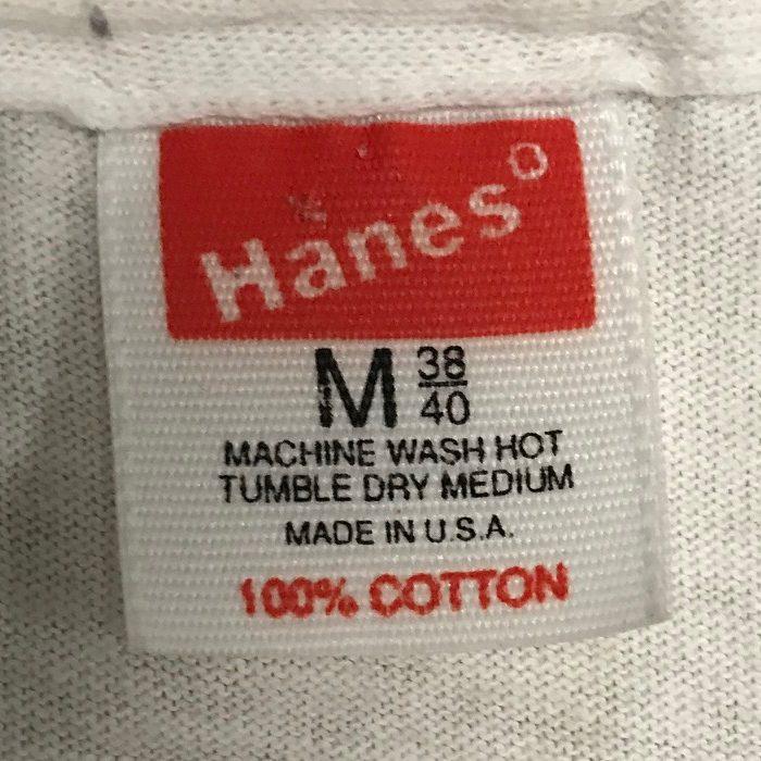 Vintage 80s Hanes Tag
